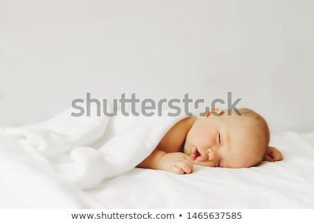 dormire · baby · bianco · letto · cute - foto d'archivio © dacasdo