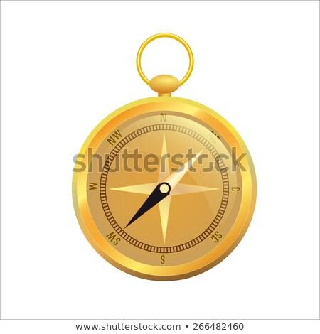 Retro arany iránytű illusztráció terv utazás Stock fotó © Hermione