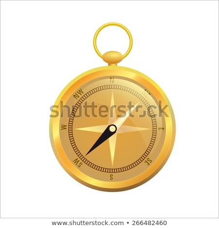 retro gold compass stock photo © hermione