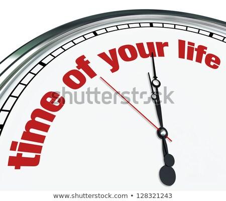 zaman · saat · sözler · beyaz · iş · para - stok fotoğraf © kbuntu