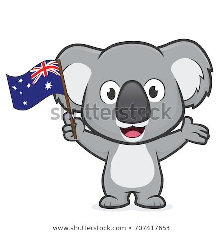 Stock photo: australian koala in a tree