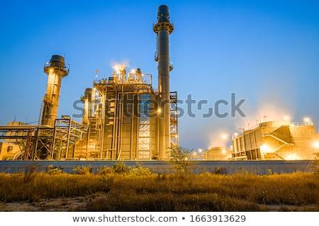 Kimyasal fabrika büyük Metal güvenlik yağ Stok fotoğraf © CaptureLight