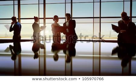 ストックフォト: 人 · ビジネス · センター · 建設 · デザイン · ガラス