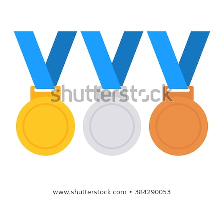 Stock photo: Olympic medals with ribbons