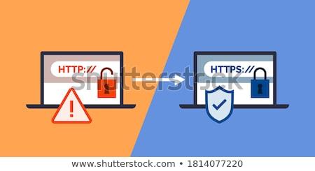 Http laranja terra azul computador internet Foto stock © Elenarts