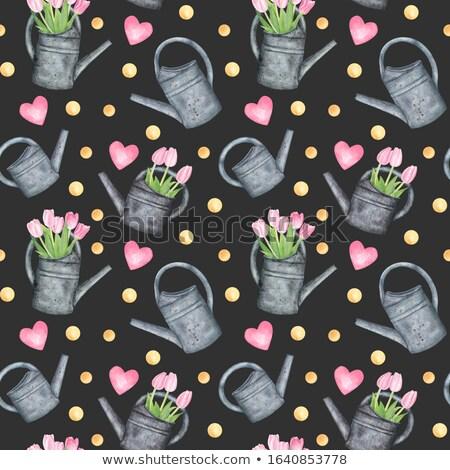 Víz gyöngyök sötét hát absztrakt természetes Stock fotó © prill