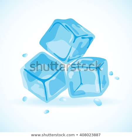 Stock photo: blue and shiny ice cubes