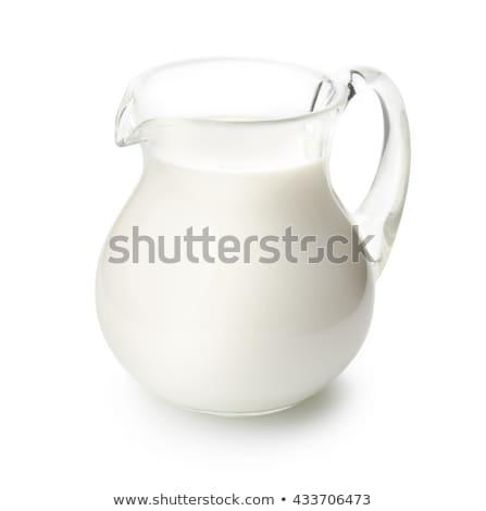 Tejesflakon üveg gyűjtemény izolált fehér bár Stock fotó © karandaev