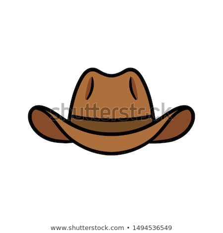 Cowboy Mascot Head Vector Illustration stock photo © chromaco