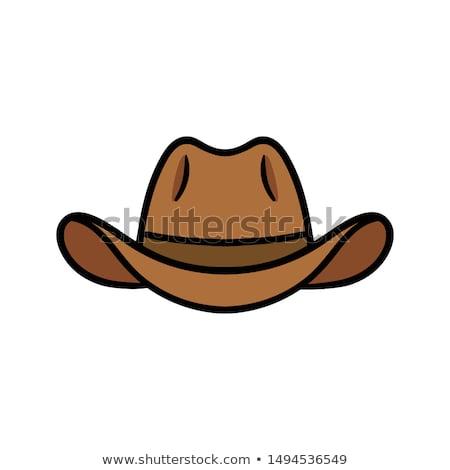 Cowboy Mascot Head Vector Illustration stock photo © chromaco
