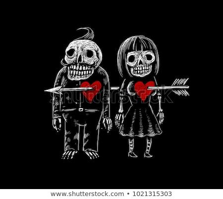 пресмыкающийся зомби любви мальчика подруга кровавый Сток-фото © Kakigori
