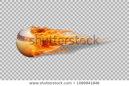 Сток-фото: бейсбольной · пламя · вектора · изображение · спорт · графических