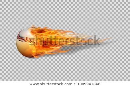 Baseball with Flames Vector Image Stock photo © chromaco