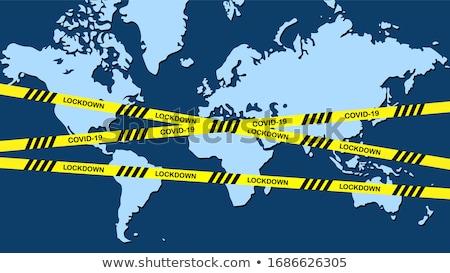 Világ zár illusztráció Föld földgömb kulcs Stock fotó © pkdinkar