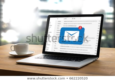 Laptop email küld boríték üzlet terv Stock fotó © pkdinkar
