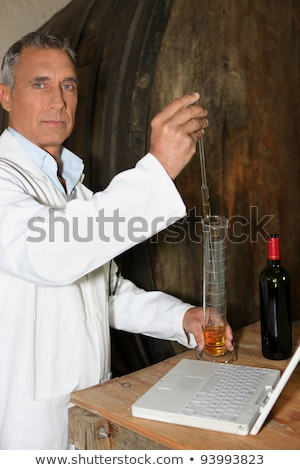 Oenologists analysing a wine Stock photo © photography33