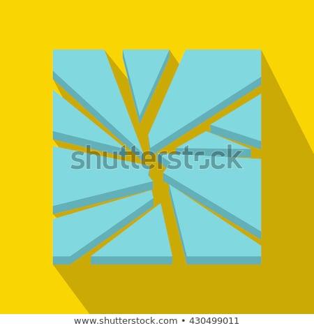 битое стекло веб сломанной окна стекла подобно Сток-фото © smithore