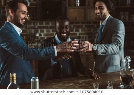 bêbado · empresário · potável · uísque · coquetel · estilo · de · vida - foto stock © pedromonteiro