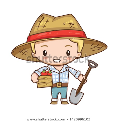 Blond boy with straw hat Stock photo © photography33
