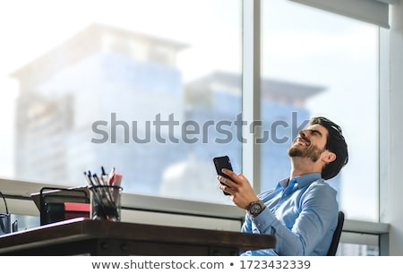 Hysterical businessman on the phone Stock photo © photography33