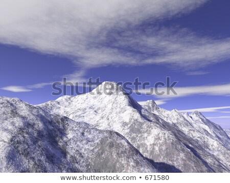 mountain montblanc rendering Stock photo © Paha_L