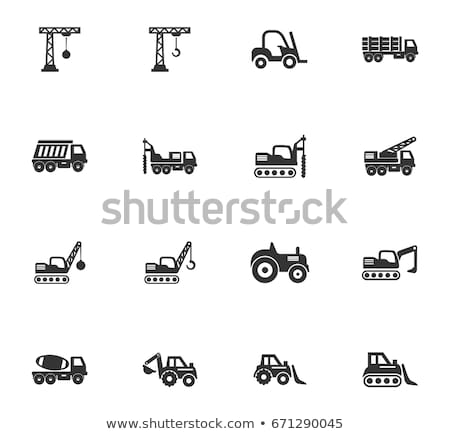 Stock photo: Set of transport icons - loader