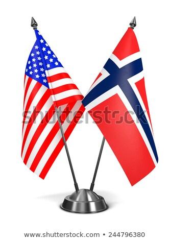 miniatura · banderą · Norwegia · odizolowany - zdjęcia stock © bosphorus
