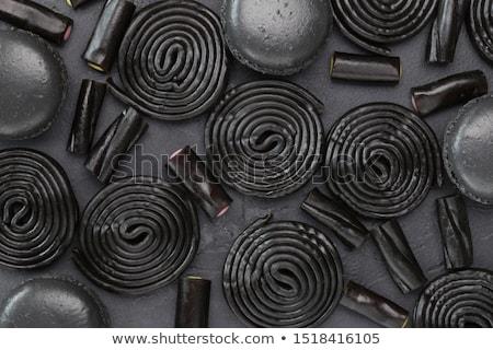 Lukrecja sztuk czarny biały słodkie Zdjęcia stock © Stocksnapper