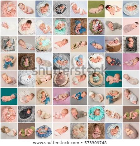 Stock fotó: Baba · kollázs · különböző · képek · hónap · öreg