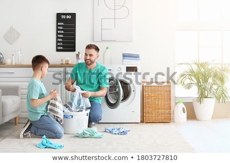Szennyes nap izolált fehér takarítás tiszta Stock fotó © kitch