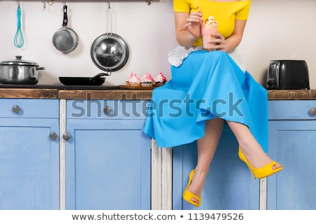 Colorful Vintage Housewife Stock photo © nikdoorg