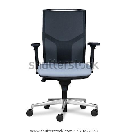 Cadeira de escritório preto imitação couro isolado cadeira Foto stock © vlad_star