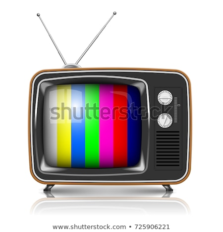 vector retro tv with color frame stock photo © leonido