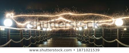 Foto stock: Panorámica · rayo · primavera · luz · belleza