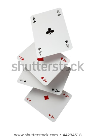 Close up of blackjack playing cards on a black background Stock photo © latent
