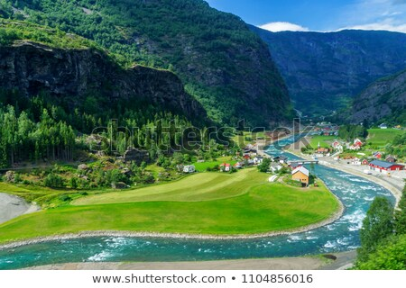 small river in the mountains of norway Stock photo © gewoldi