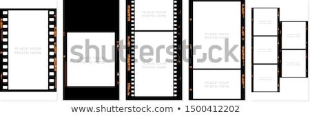 çerçeve film delinme beyaz siyah hat Stok fotoğraf © perysty