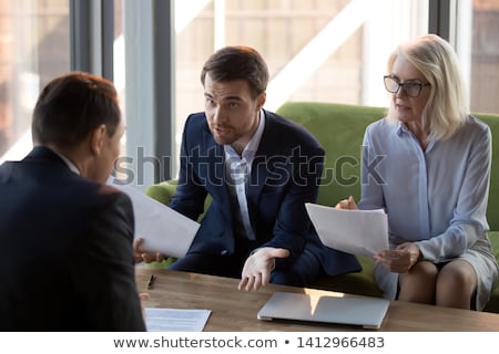 concerned businesswoman and colleague stock photo © photography33