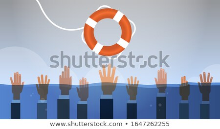 Drowning Businessman Stock photo © blamb