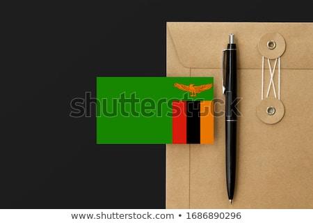 почты Замбия изображение штампа карта флаг Сток-фото © perysty