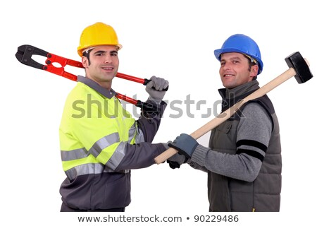 Workmen with sledgehammer and bolt cutters Stock photo © photography33