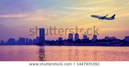 nehir · Kahire · Mısır · zevk · gemi · kule - stok fotoğraf © travelphotography