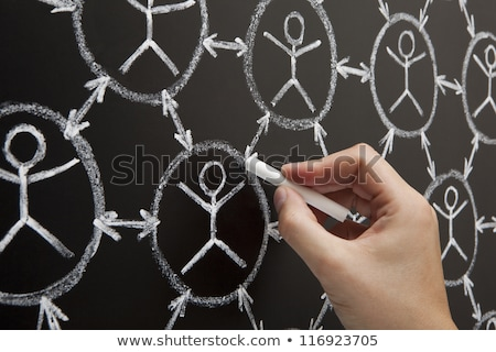hand social network blackboard stock photo © ivelin