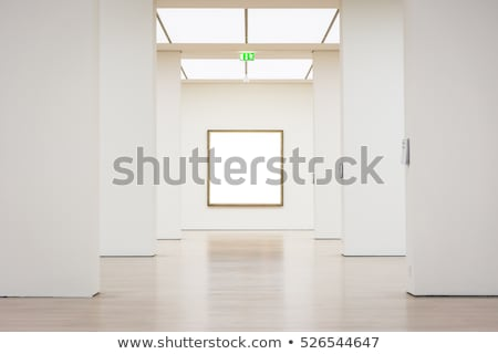 lege · witte · kamer · tentoonstelling · 3d · illustration · abstract - stockfoto © photocreo