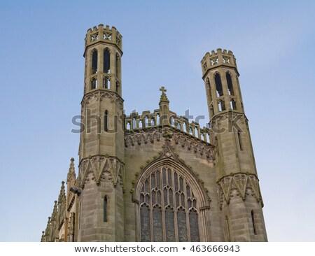 Steeple of St George Episcopal church Stock photo © backyardproductions