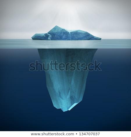 ayna · yansıma · dağlar · deniz · kar · soğuk - stok fotoğraf © timwege
