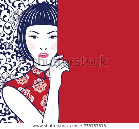 japanese girl in classical dress Stock photo © carlodapino