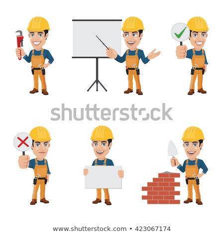 construction worker in safety outfit holding construction sign Stock photo © photography33