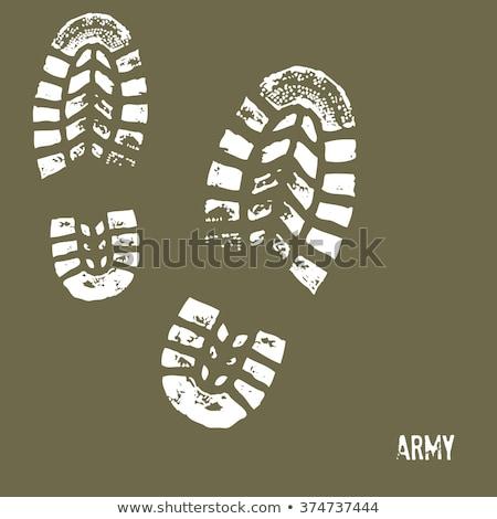 армии сапогах кожа черный военных жилет Сток-фото © grivet