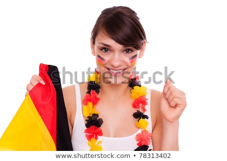 Two young German soccer supporters Stock photo © photography33